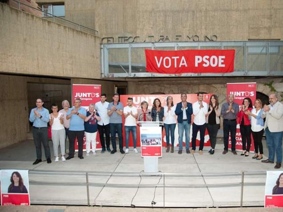 Mitin del PSOE en Utebo.