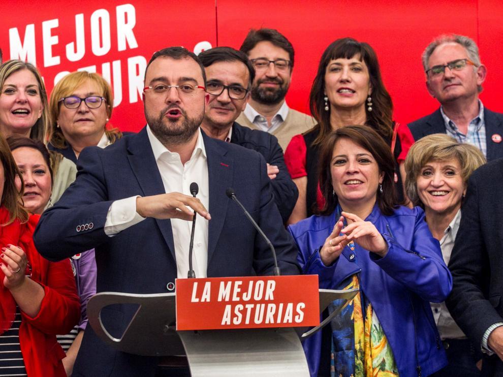 Adrián Barbón, líder del PSOE en Asturias.