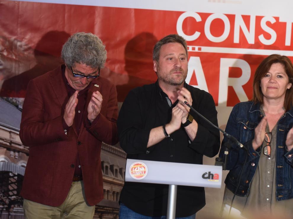 El presidente de CHA, José Luis Soro, anoche en el Hotel Reino de Aragón.