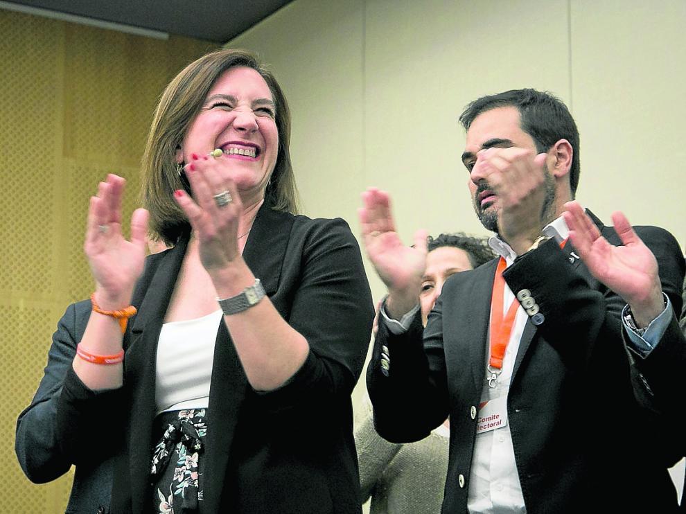 La candidata de Cs, Sara Fernández, afronta las tres próximas semanas de negociación con la perspectiva de ser la llave para la alcaldía.