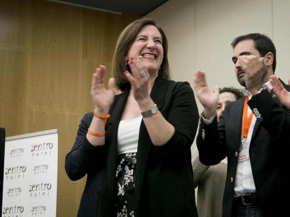 Sara Fernández logró 6 concejales para Cs en el Ayuntamiento de Zaragoza