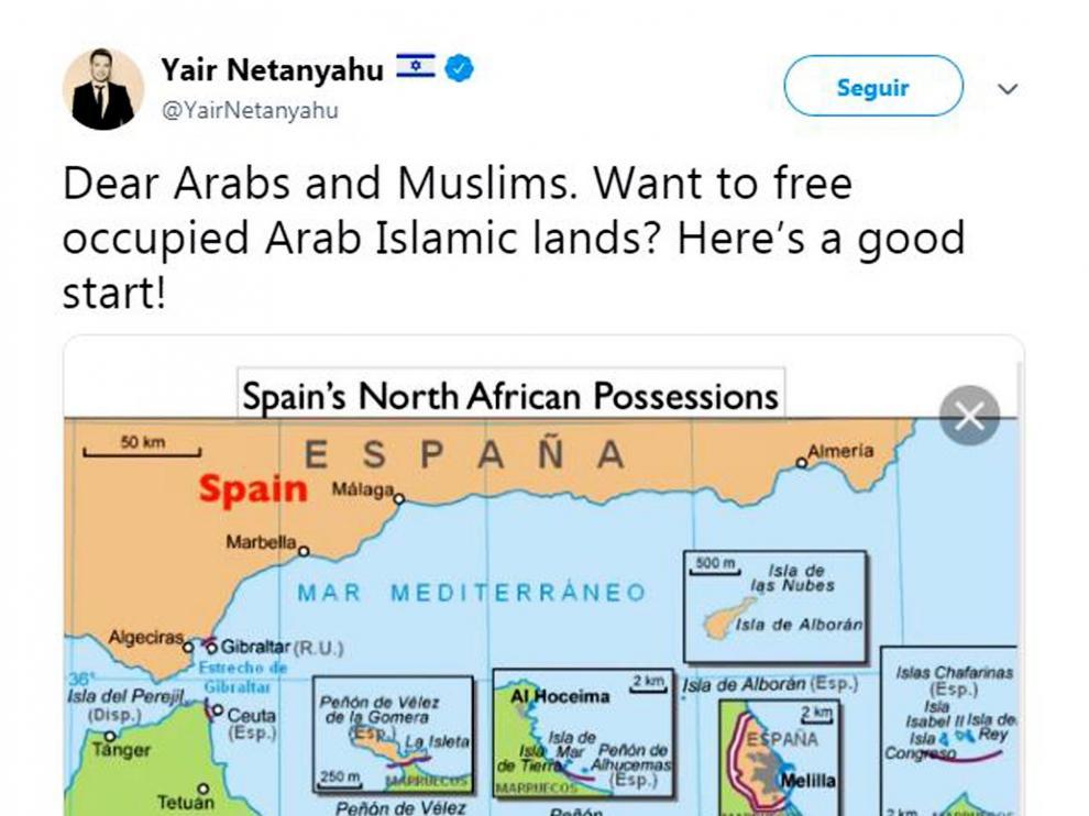 Yair Netanyahu se enzarza con Abascal y sugiere apoyo israelí al secesionismo