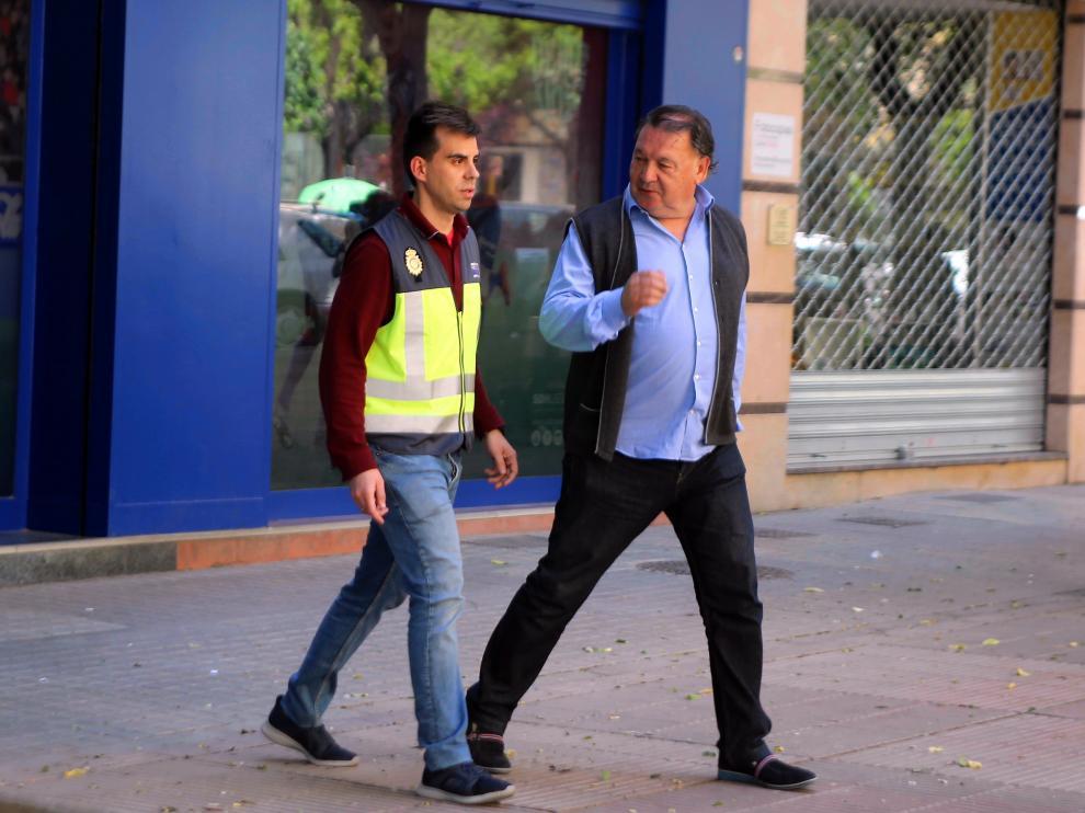 Agustín Lasaosa, presidente del Huesca, detenido.