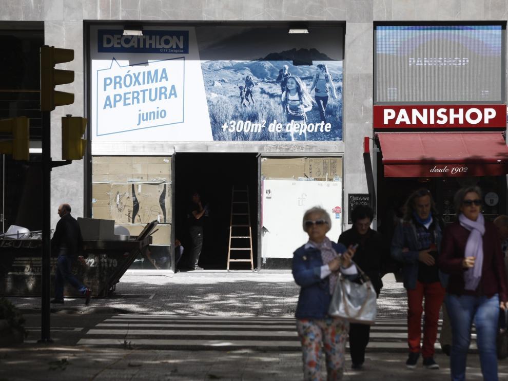 La nueva tienda de Decathlon en paseo de Sagasta 10