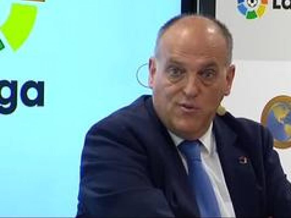 En opinión de presidente de LaLiga, Javier Tebas, las detenciones ocurridas este martes con motivo  de la Operación Oikos no son malas noticias, sino una señal de que las medidas que se ponen en marcha contra los amaños funcionan.