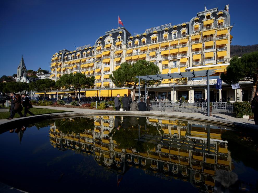 Fotografía de archivo del hotel Montreux-Palace de Suiza donde se celebrará la reunión.