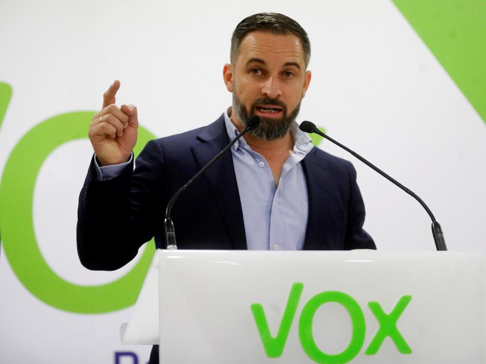 El líder de Vox, Santiago Abascal.