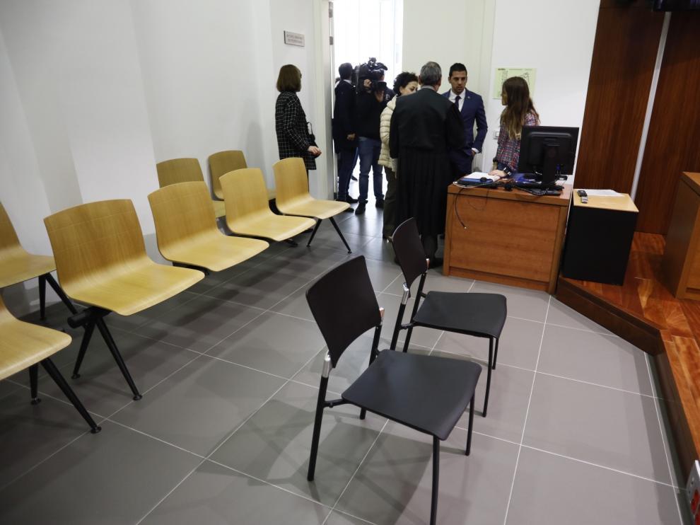 Imagen del juicio que tuvo que ser suspendido en la Audiencia Provincial.