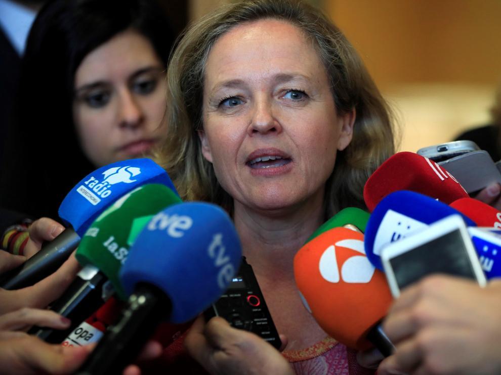 La ministra de Economía y Empresa en funciones, Nadia Calviño.