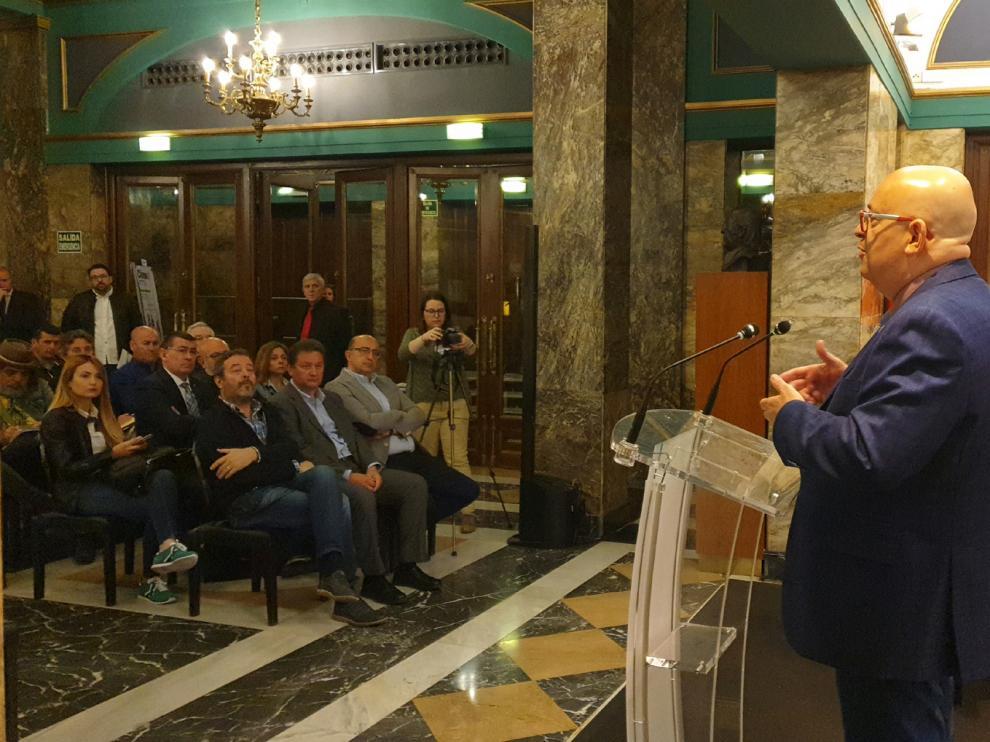 Presentación del Festival de las Piedras en el Teatro Principal de Zaragoza.
