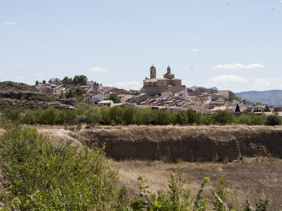 Vista de Castelserás (Teruel).