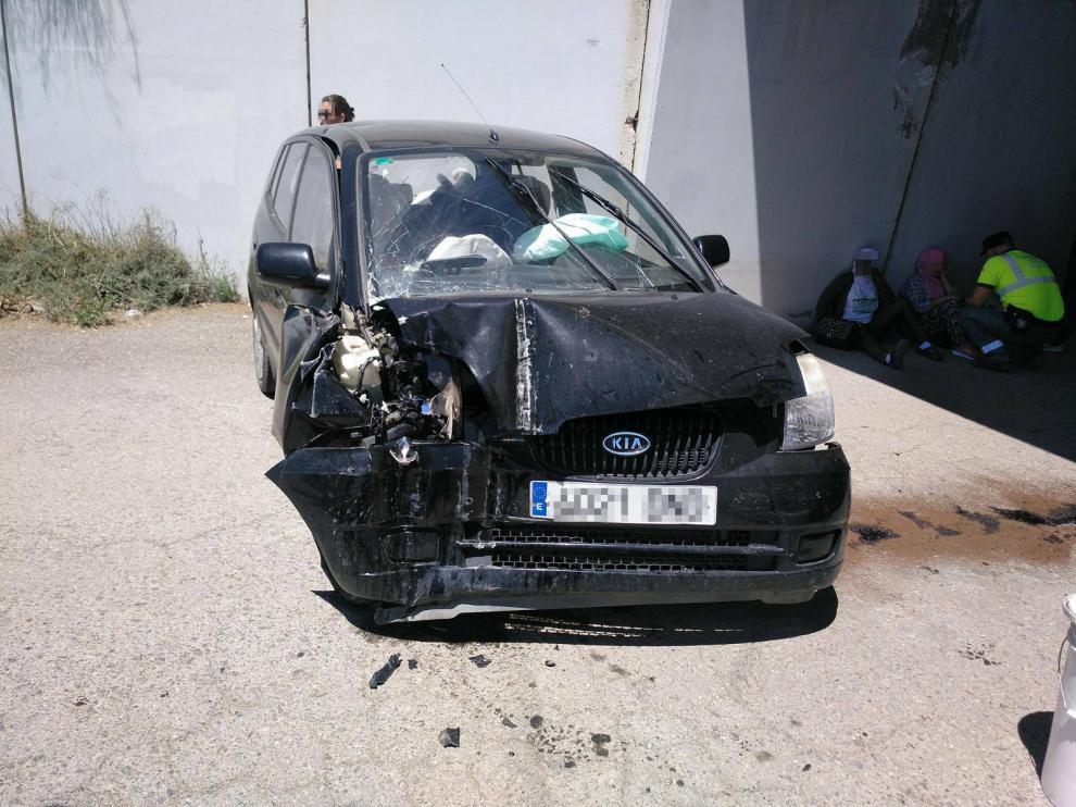 Estado en el que quedó el vehículo tras la colisión.