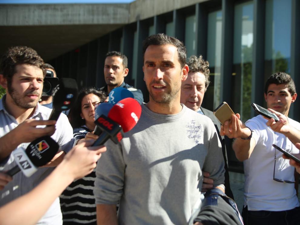 Íñigo López, a su salida del juzgado.