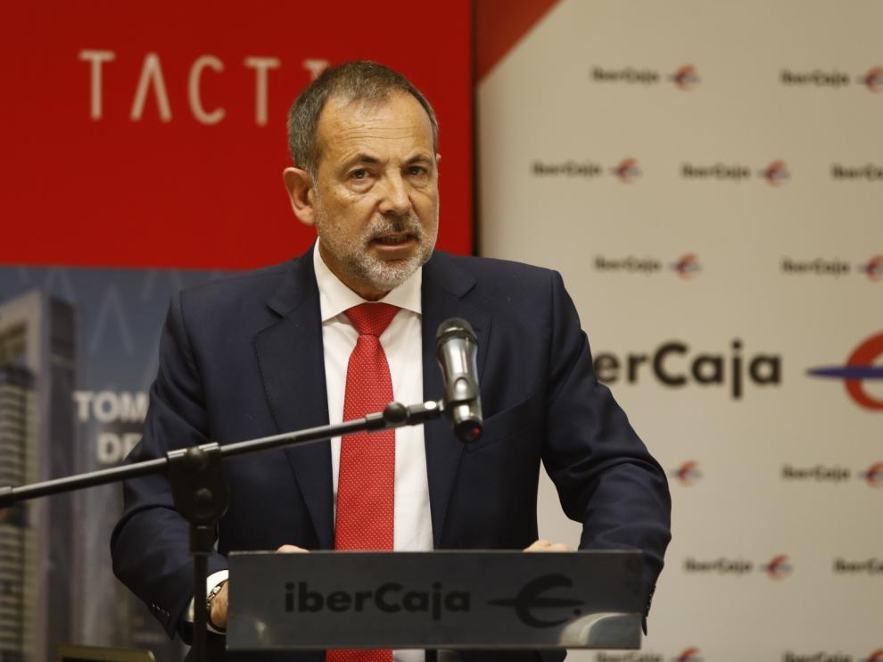 El socio director de Tactio Mario Fornós, este jueves, en Zaragoza.