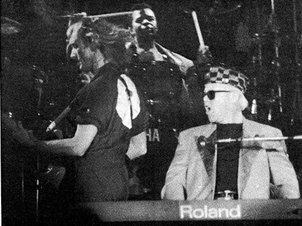 Elton John, durante su concierto en Zaragoza