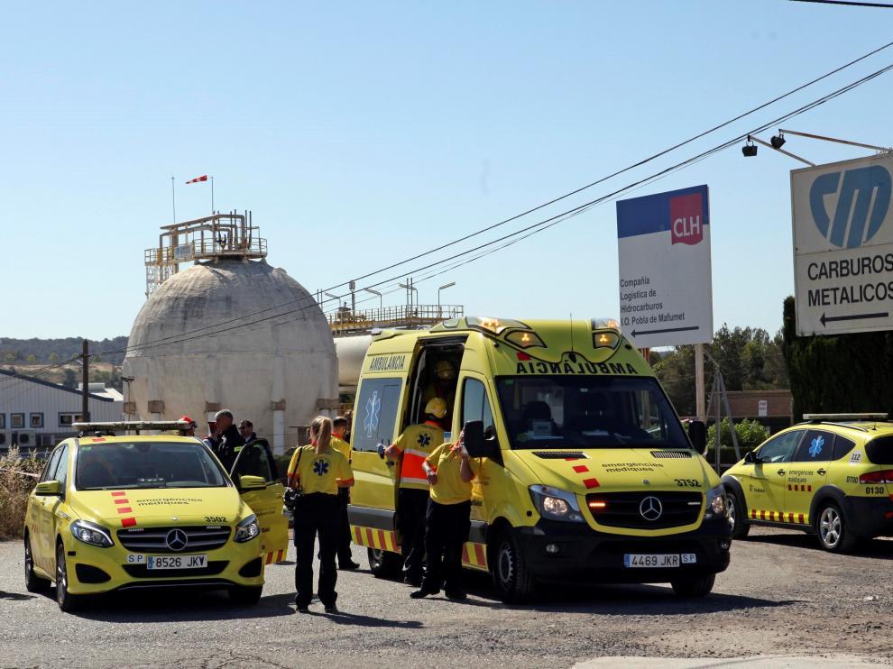 La fuga de amoniaco ha ocurrido en la fábrica Carburos Metálicos del polígono norte de Tarragona.