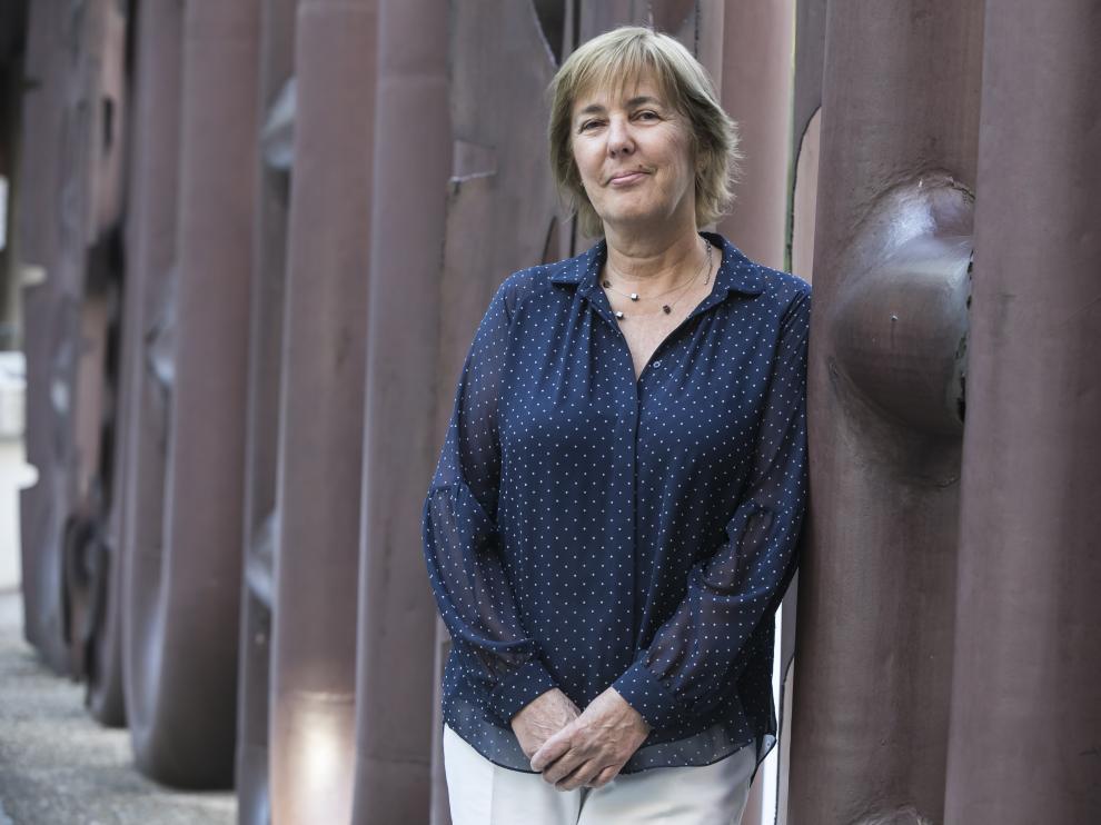 Helena Matute, antes de su charla en Ibercaja Patio de la Infanta.