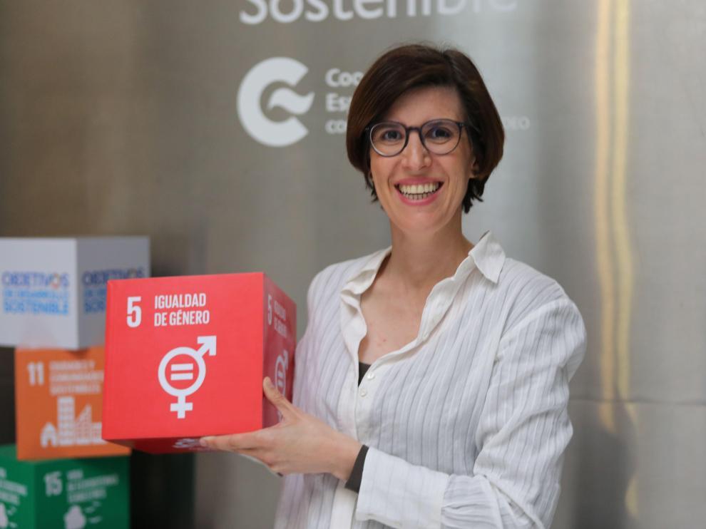 Julia Herrero, en el Centro de Formación de la Cooperación Española en Montevideo (Uruguay)