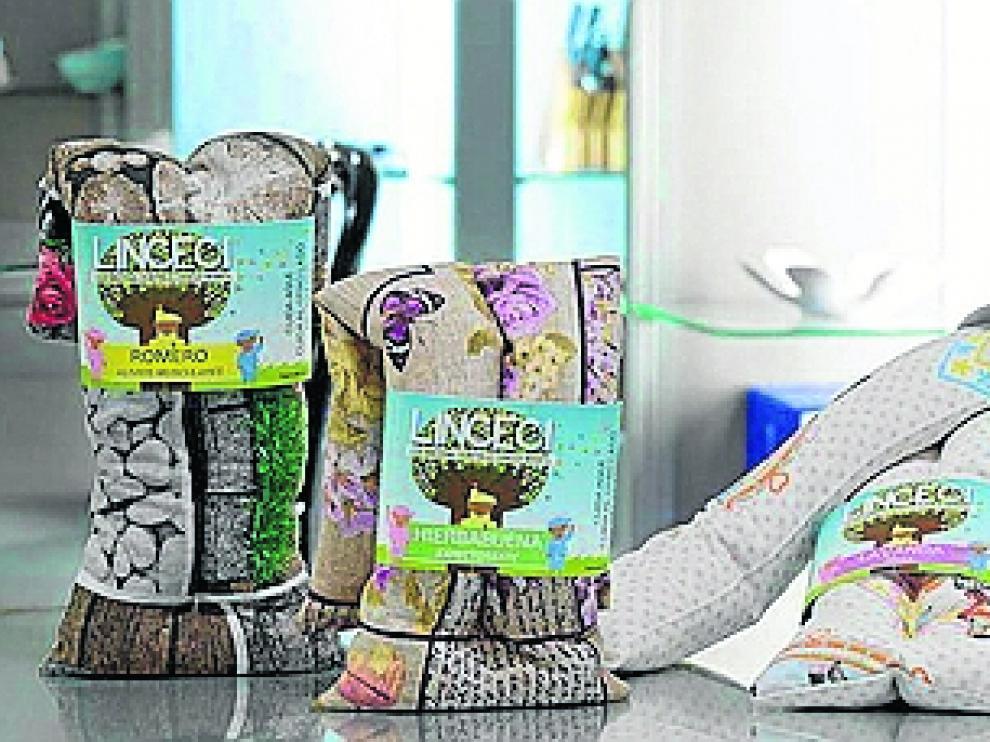 Sacos térmicos que se ofrecían como producto solidario para comprar.