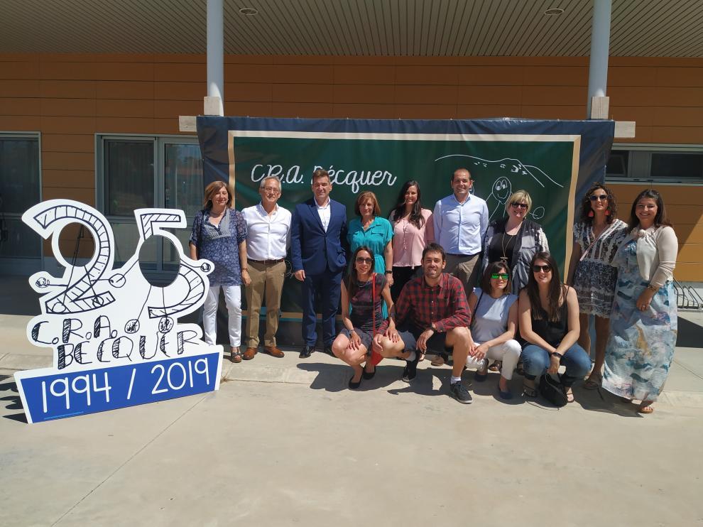 En Novallas se encuentra el colegio principal del CRA, que ha hecho de anfitrión para todos los participantes en la jornada.
