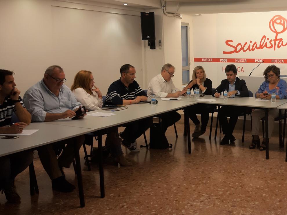 Reunión de la Ejecutiva que el pasado jueves tomó aprobó el documento.