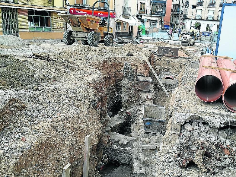 Los trabajos están paralizados desde hace semanas mientras se completa el seguimiento arqueológico del hallazgo