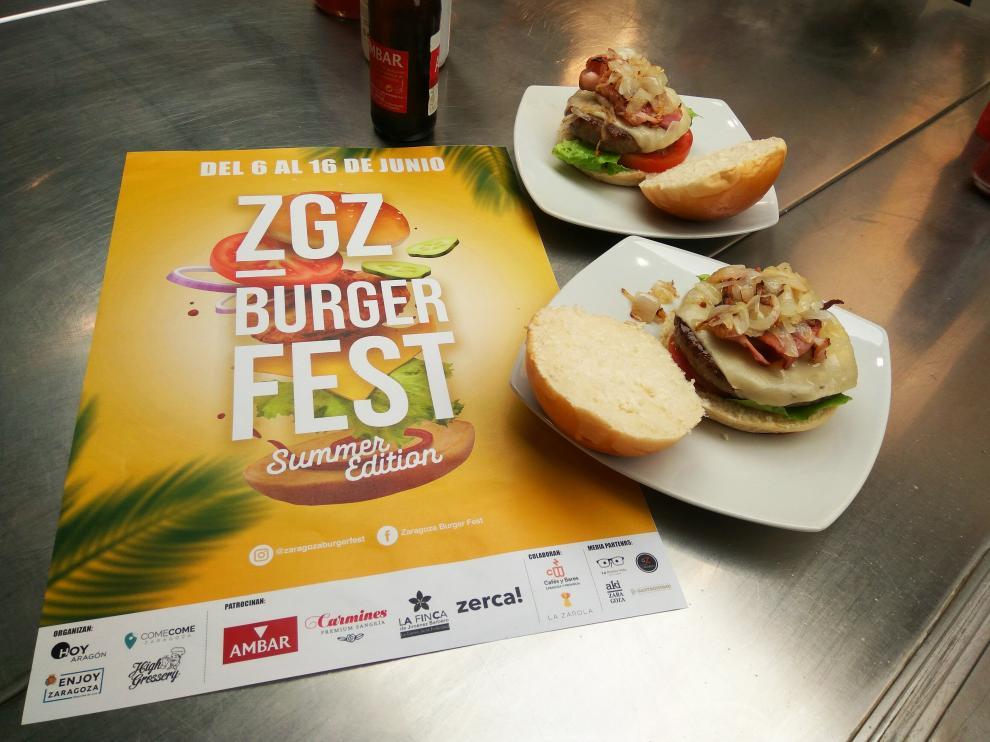 Cartel de la edición veraniega del Zaragoza Burger Fest.