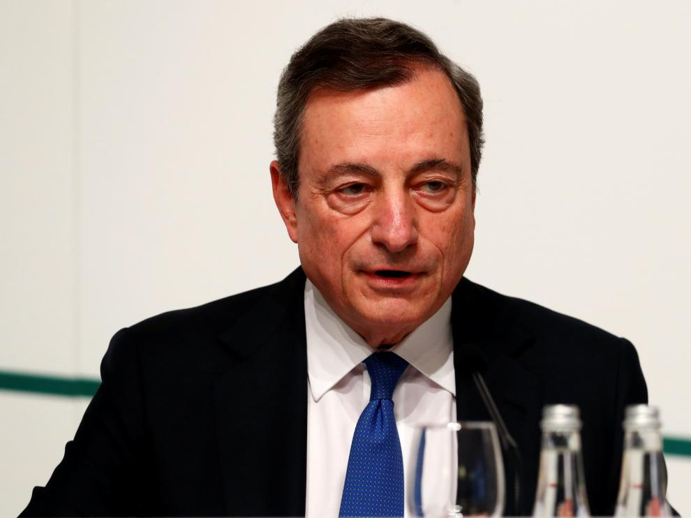 Mario Draghi, President of the European Central Bank (ECB), attends a news conference in Vilnius, Lithuania June 6, 2019. REUTERS/Ints Kalnins [[[REUTERS VOCENTO]]] ECB-POLICY/