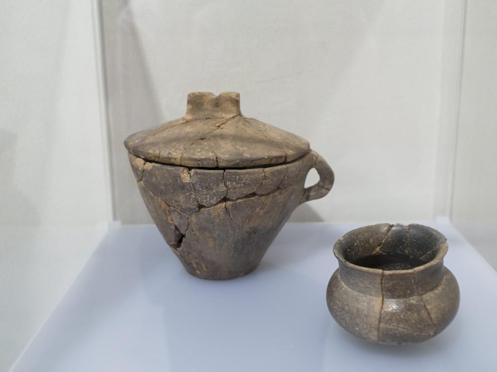 Restos hallados en los yacimientos celtibéricos de la comarca que se exponen en el Museo de Daroca.