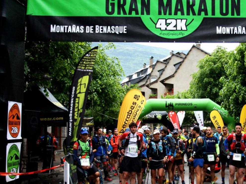 Salida del Gran Maratón Montañas de Benasque de la edición del 2018.