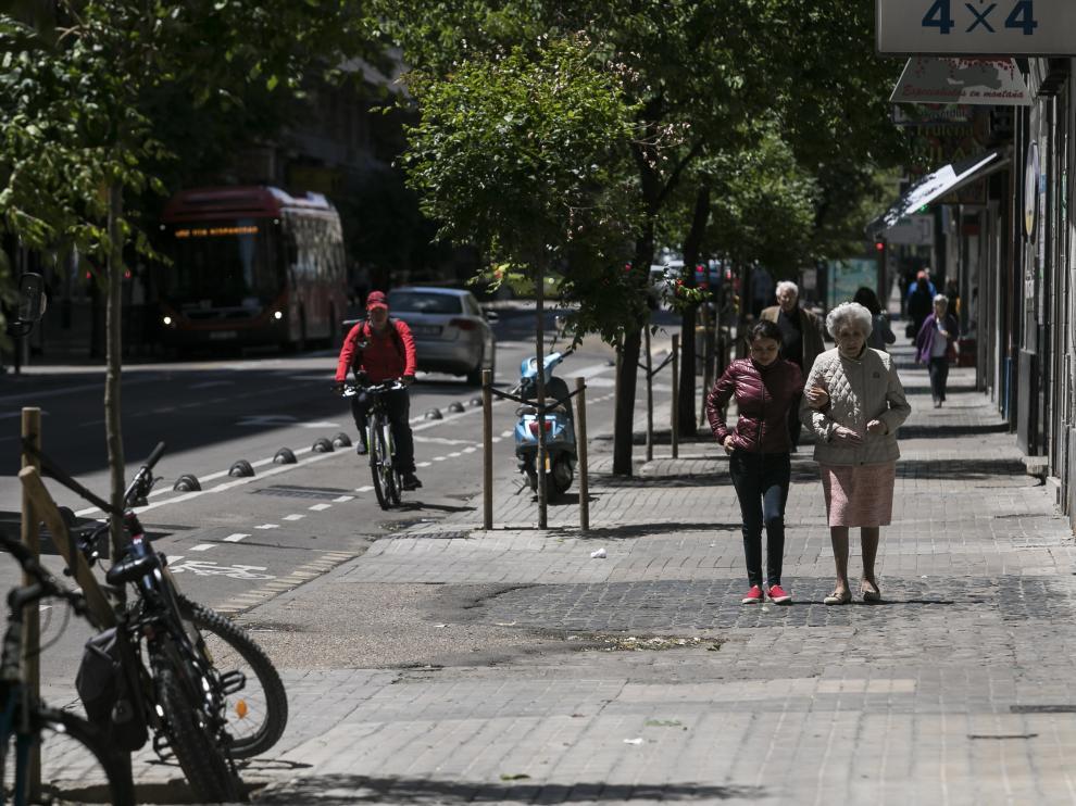 Estado de las aceras de la avenida de Valencia
