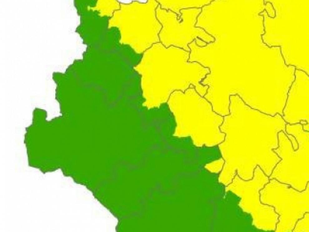 Alerta naranja por riesgo de incendios forestales en el Bajo Ebro