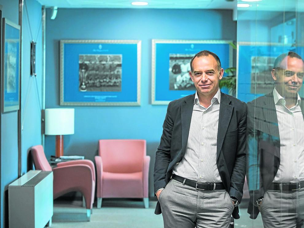Christian Lapetra, el pasado viernes en las oficinas del Real Zaragoza.