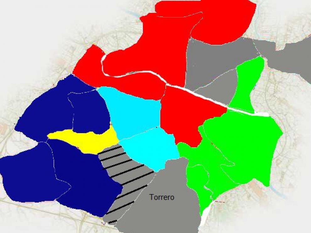 En la simulación de la guerra en Zaragoza El Actur, Valdespartera y San José está muy igualados