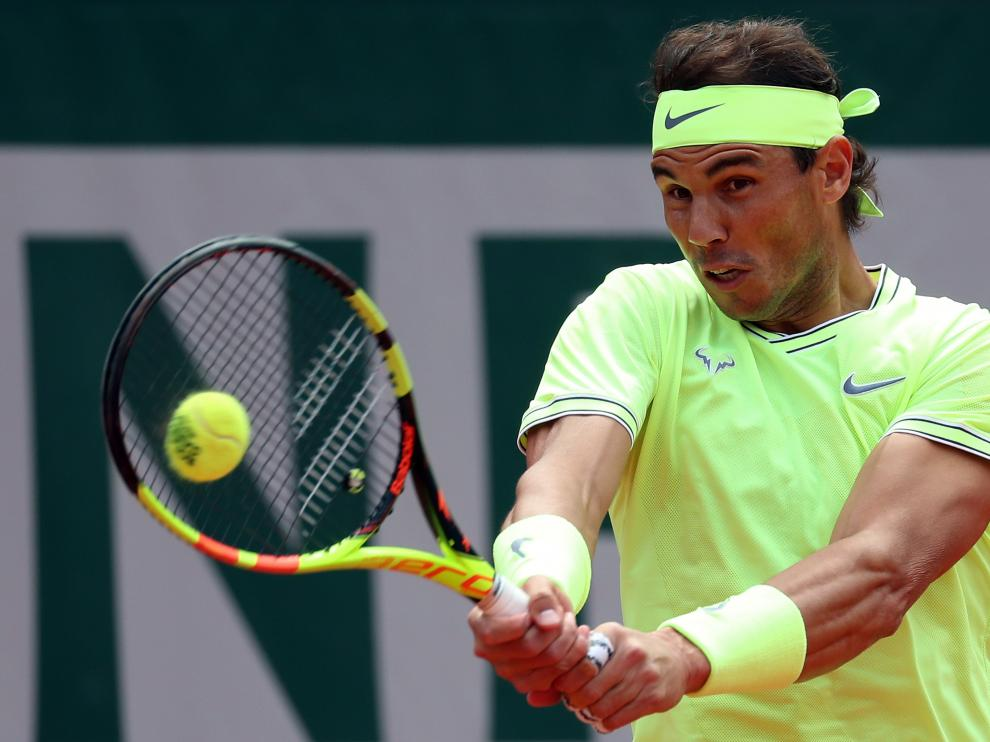Tennis - French Open - Roland Garros, Paris, France - June 9, 2019. Spain's Rafael Nadal in action during his final match against Austria's Dominic Thiem. REUTERS/Kai Pfaffenbach [[[REUTERS VOCENTO]]] TENNIS-FRENCHOPEN/