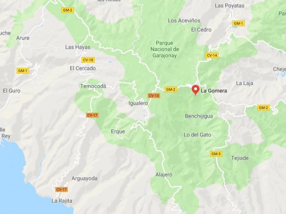 Rescatado un hombre de 73 años tras caer y pasar varios días en un barranco de La Gomera