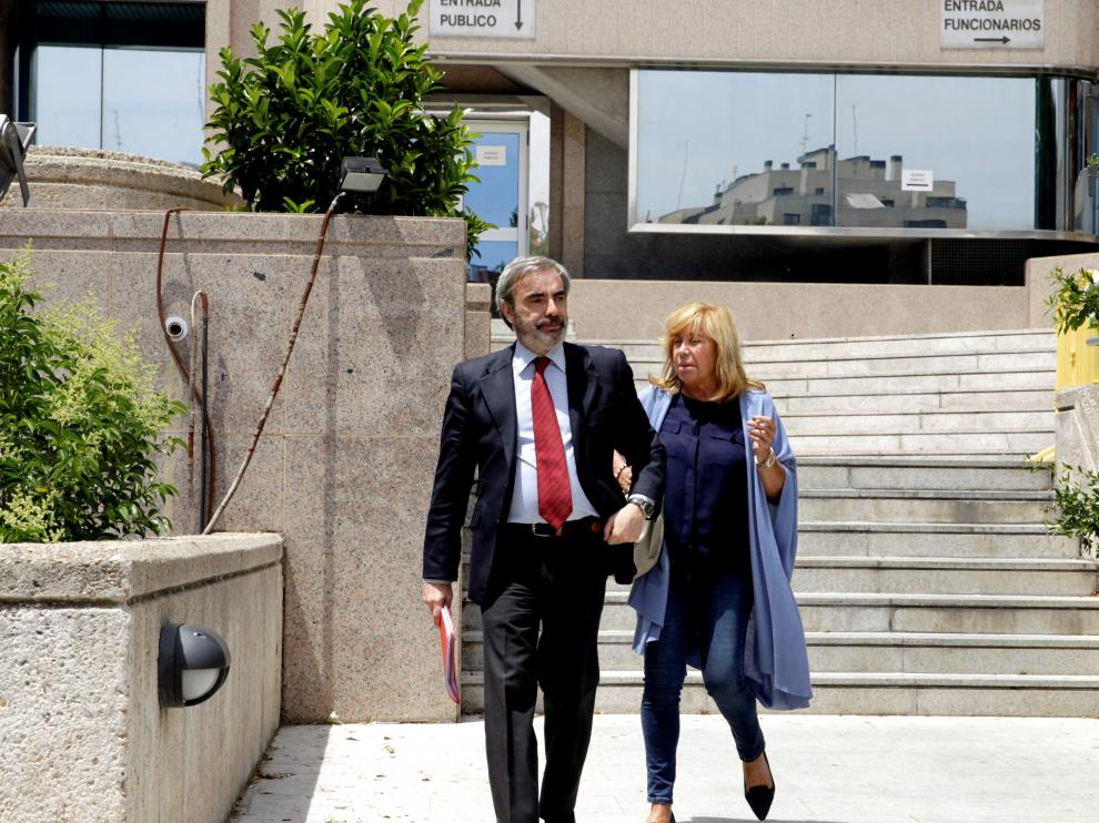 Cristina Ordovás a su llegada al juzgado
