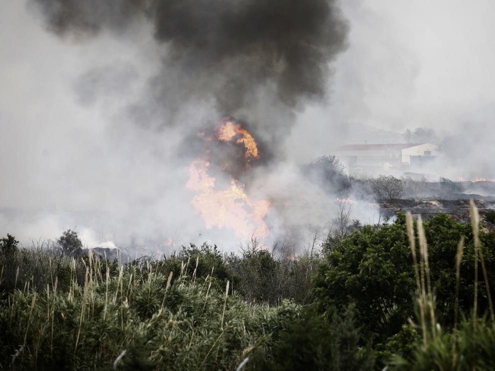 incendio cerca de Cuarte de Huerva.