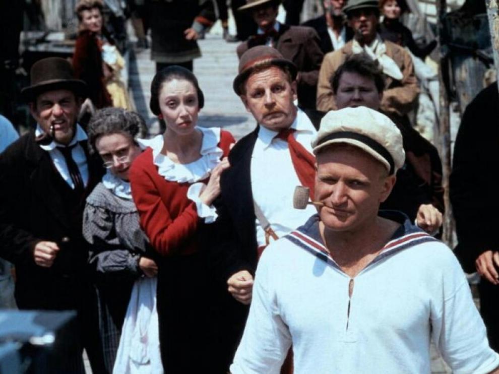 Fotograma de la película 'Popeye' (1980), dirigida por Robert Altman y protagonizada por Robin Williams.
