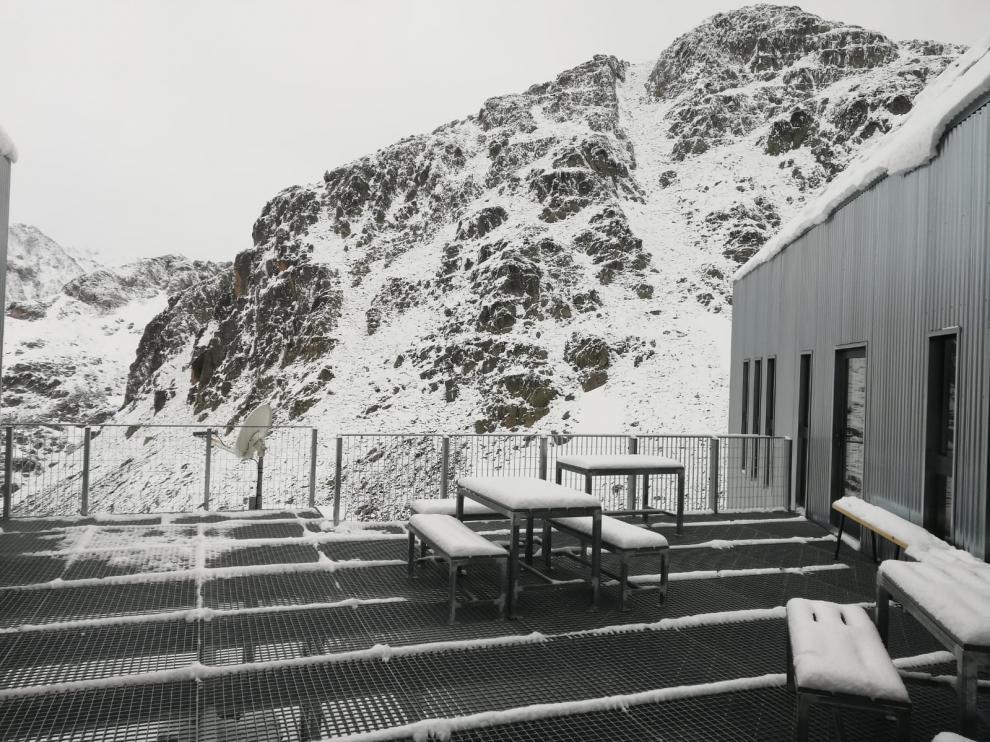 Imágenes de la nevada caída en el Pirineo el '41 de mayo'.
