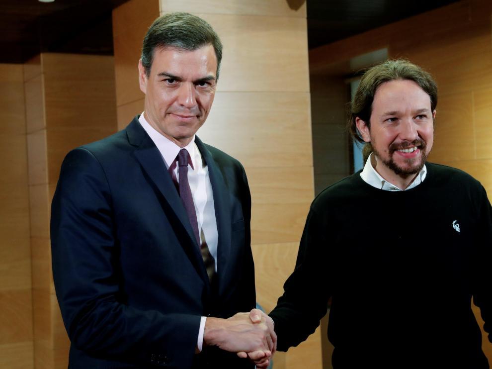 Pedro Sánchez se reúne con Pablo Iglesias en su ronda para recabar apoyos para la investidura