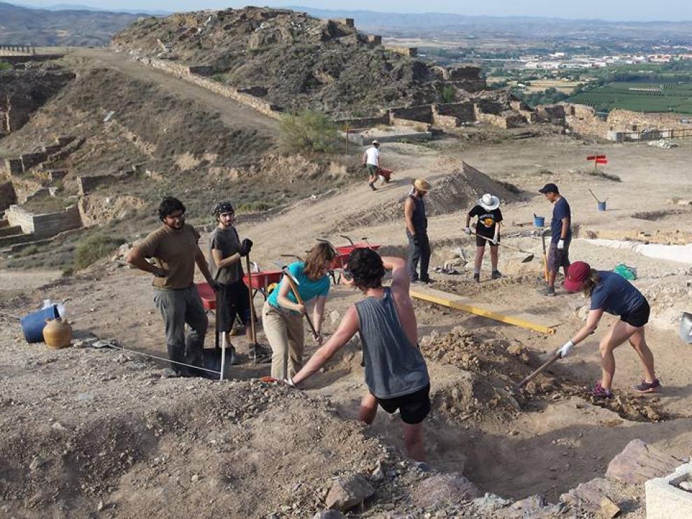 Imagen de archivo de una campaña de excavaciones arqueológicas en el yacimiento de Bilbilis