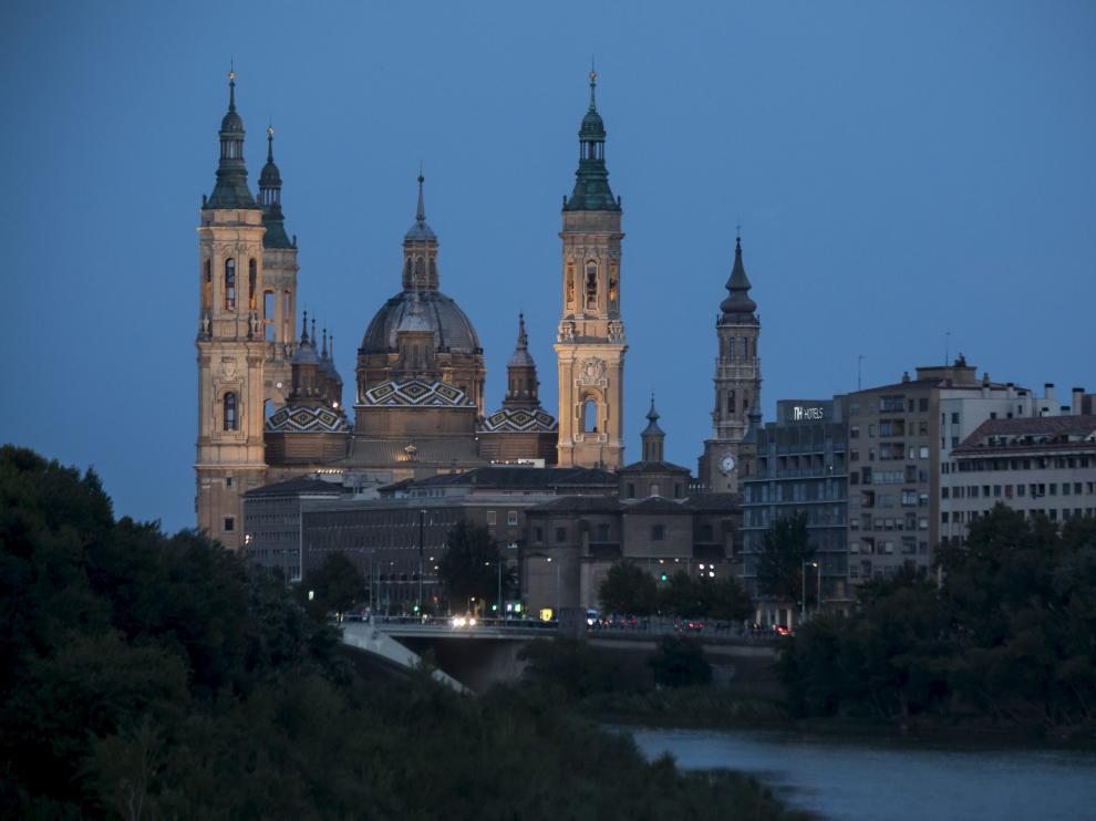 Vista de la Basílica del Pilar.