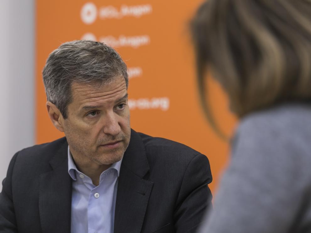 El candidato de Cs a la presidencia del Gobierno de Aragón, Daniel Pérez.