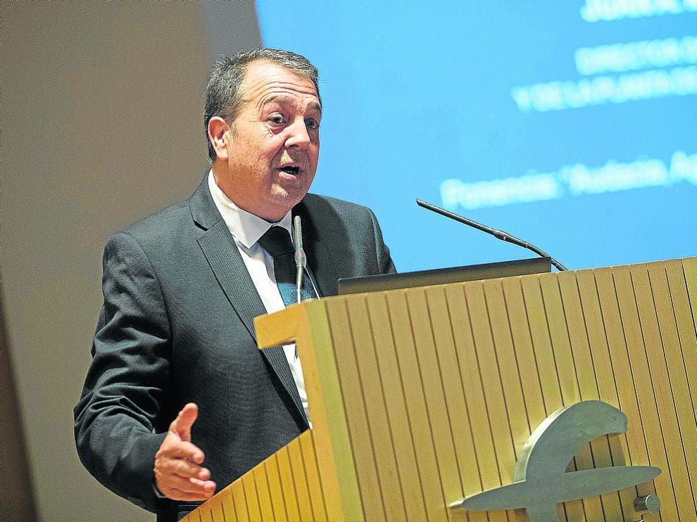 Juan Antonio Muñoz Codina, este martes en la clausura del Alumni Learning-ALP en Aragón del IESE.