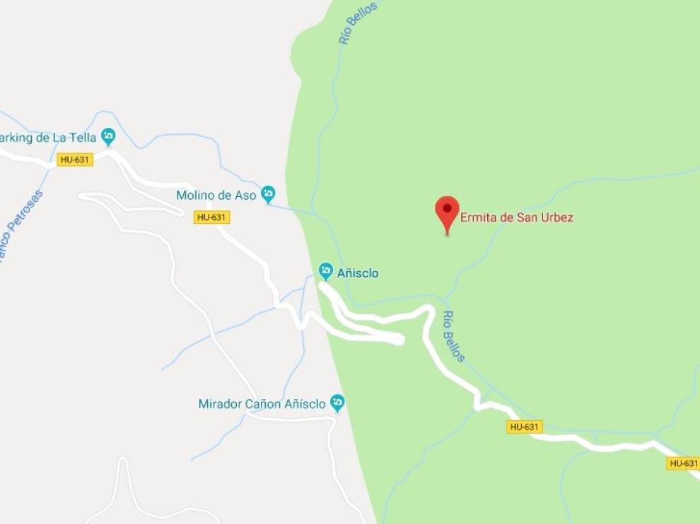 La senderista ha fallecido cerca de la ermita de San Úrbez.