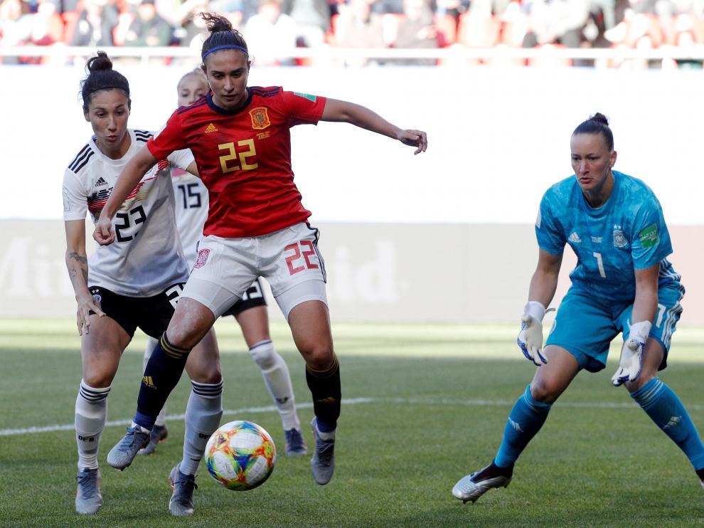 La jugadora española Nahikari García, en acción.
