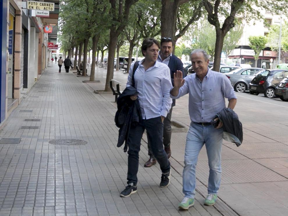 Petón, Josete Ortas y Manuel Torres, a su llegada al consejo de administración.
