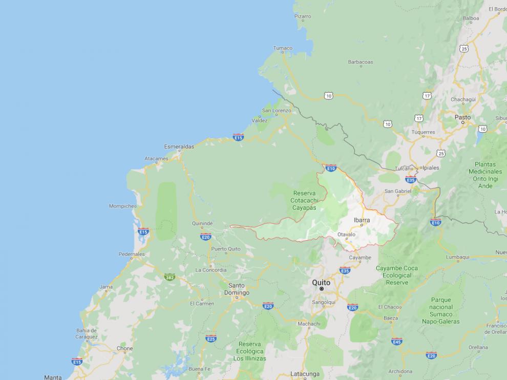 Ha sido hallado en la provincia ecuatoriana de Imbabura,