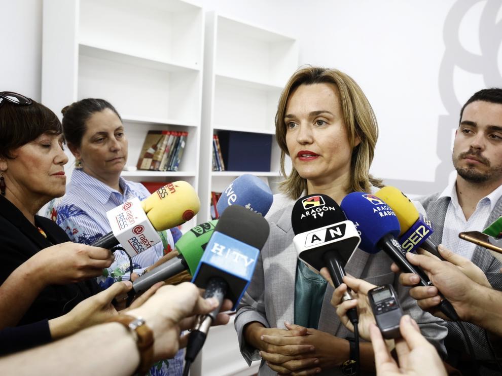 Alegría y Villagrasa, este viernes en la sede del PSOE